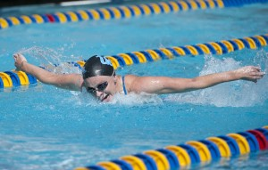 Senior swimmer Karoline Sanderud is one of nine Bruin swim and dive seniors who will be honored this Saturday at Spieker Aquatics Center.