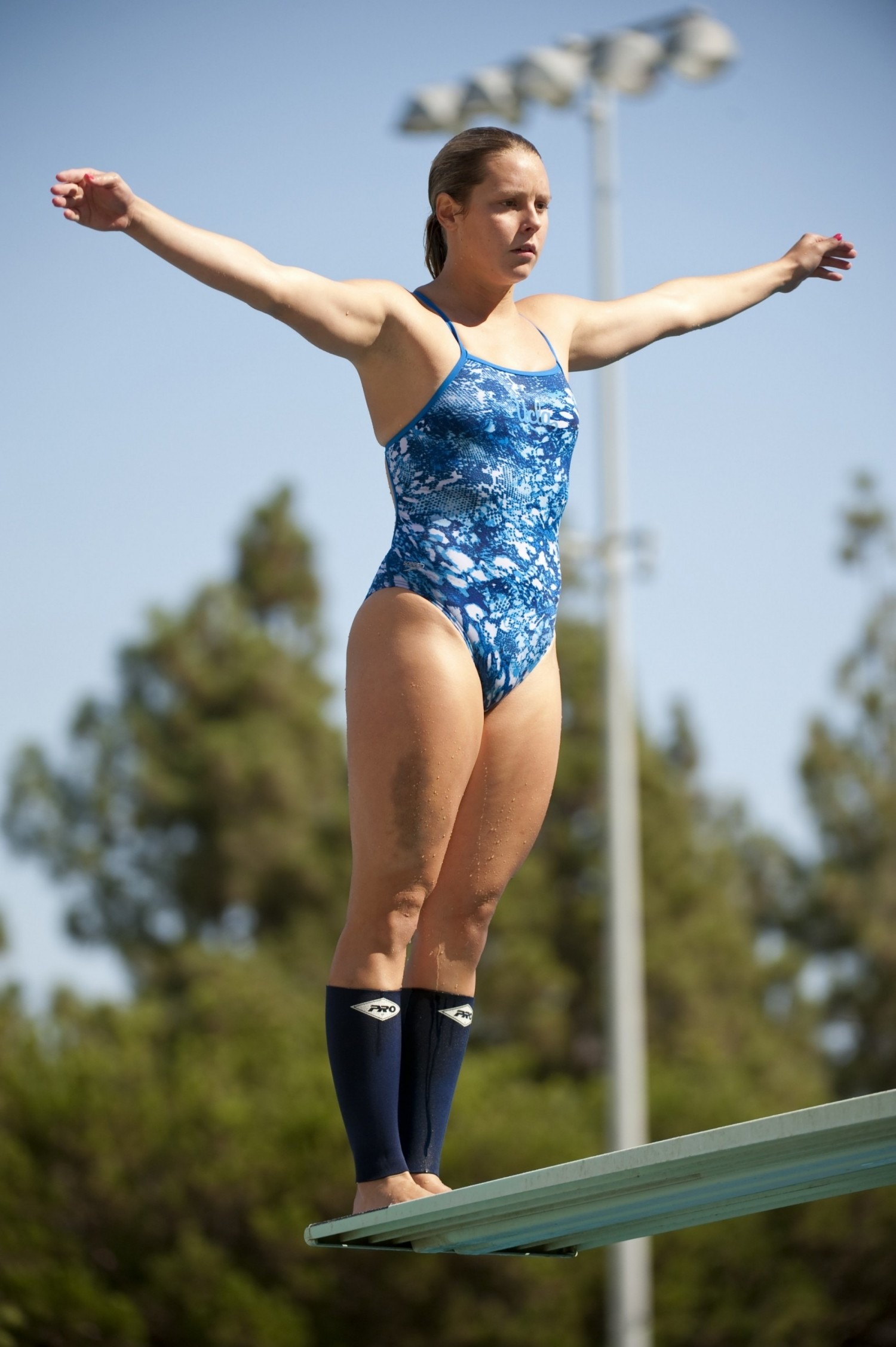 Sophomore diver Emma Ivory-Ganja had top-five finishes in all her events at the Bruin Diving Invitational this weekend.