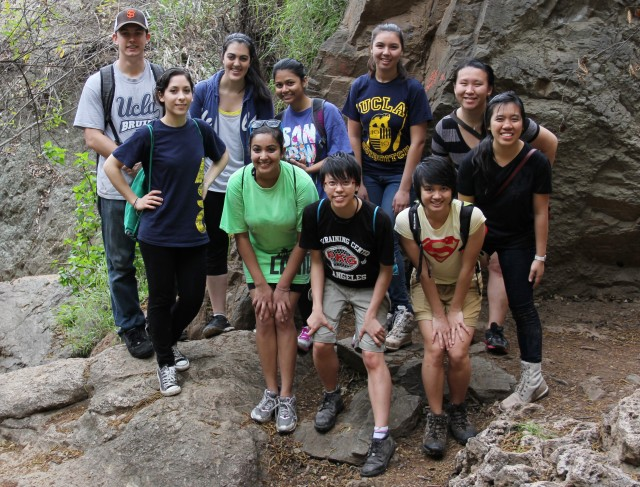 Environmental Science Student Network, a new student group that connects environmentally conscious UCLA students, went on a hike in Escondido Falls in Malibu, Calif. Although the group was started in 2011, this is its first academic year as an official club.