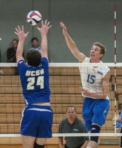Despite a comeback led by junior outside hitter Robart Page, the men's volleyball team struggled in an error-ridden 3-1 loss against UCSB.