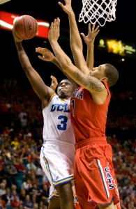 Freshman guard Jordan Adams led UCLA with 24 points in its win over Arizona, but broke his foot on the final play of the game and is out for the remainder of the season.