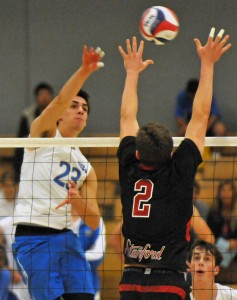 Junior outside hitter Gonzalo Quiroga struggled early in Sunday's match, but his play in later sets helped close out the win over Stanford.