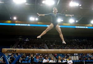 Senior Kaelie Baer and the Bruin gymnastics team are hoping to translate their hours of practice into success in competition.