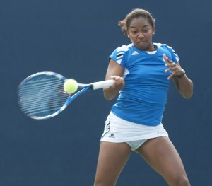 UCLA women's tennis will face USC today at the Los Angeles Tennis Center. The team will play in several highly contested singles and doubles matches, including one featuring sophomore Robin Anderson.