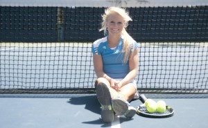 Kaitlin Ray, a sophomore communication studies student on the women's tennis team, aspires to play professional tennis, which she then plans to transition into a career in sports broadcasting. Her love for sports and her competitive nature fuel her goals.