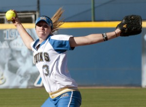 "Sophomore pitcher Ally Carda said the team is just trying to ""stay loose and have fun"" during practice in anticipation of the Louisville regional game."