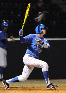 Redshirt freshman catcher Justin Hazard had a walk-off sacrifice fly in the ninth inning on Sunday.
