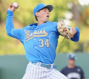 Freshman pitcher Cody Poteet will look to continue the Bruins' string of good pitching tonight against Cal State Northridge.