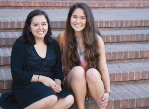 Second-year English student Gloria Gallardo, left, and second-year microbiology, immunology and molecular genetics student Brianna Backman were among a group of students who created research posters focusing on health, poverty and social justice issues.