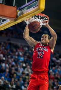 Forward Ryan Anderson, Arizona's leading scorer, piled up 15 points and 15 rebounds in the Wildcats' 87-84 loss to UCLA on Thursday night. (Aubrey Yeo/Daily Bruin senior staff)