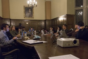 USAC council members have various ways of keeping students informed, such as through officer updates at weekly meetings. (Laura Uzes/Daily Bruin)