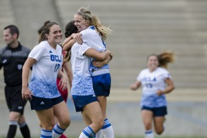 With a 1-0 victory against USC to close out the regular season, UCLA secured the No. 4 seed in the West Virginia quadrant of the NCAA Tournament. The Bruins will face Seattle on Friday night at Drake Stadium. (Aubrey Yeo/Daily Bruin senior staff)