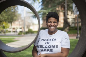 Shondrea Thornton, a graduate student in gender studies, will discuss the concept of love through a black feminist lens. (Kristie-Valerie Hoang/Daily Bruin)