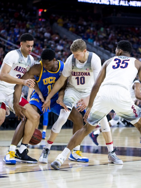 Arizona took a 41-35 lead into halftime against UCLA on Friday night. (Aubrey Yeo/Daily Bruin senior staff)