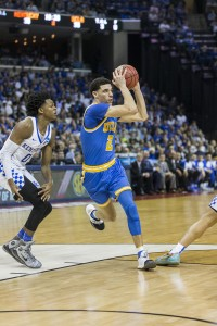 Freshman guard Lonzo Ball earned first team All-American honors and was named the National Association of Basketball Coaches freshman of the year. He is also a finalist for the John R. Wooden Award, which is given to the country's most outstanding player. (Aubrey Yeo/Daily Bruin senior staff)