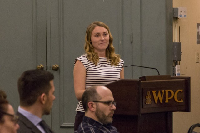 Shelby Kretz, a UCLA doctoral student in urban schooling, announced her resignation from council because it was too expensive for her to continue living in Westwood. (Amy Dixon/Daily Bruin)