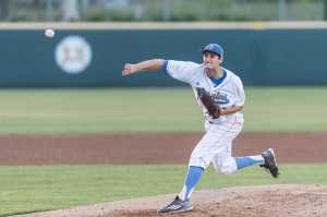 Starting pitcher Jake Bird was not drafted by an MLB team, so he will be playing his senior season as a Bruin next year. (Michael Zshornack/Photo editor)