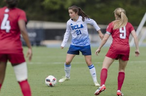 Jessie Fleming is one of three co-captains for the ninth-ranked Bruins this upcoming season. UCLA will host two matches at Drake Stadium to start the season Friday and Sunday. (Daily Bruin file photo)