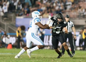 UCLA football snapped a two-game losing streak with a win over Colorado, and showing improvements across several position groups.  (Keila Mayberry/Daily Bruin staff)