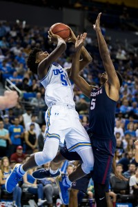 Freshman guard Chris Smith scored a team-high 15 points off the bench in UCLA's 96-68 win over South Carolina State on Friday night. (Aubrey Yeo/Daily Bruin senior staff)