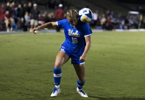 Junior forward Hailie Mace and the Bruins will seek their second ever national title this weekend in Orlando, with their first game of the College Cup taking place Friday night against an undefeated Duke. (Aubrey Yeo/Daily Bruin senior staff)