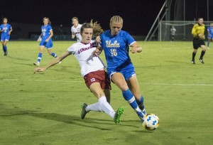 The final-four teams standing in the NCAA women's soccer tournament are UCLA, Duke, Stanford and South Carolina, and all will face off this weekend in Orlando, Florida, for a chance to earn the national title. The Bruins and the Cardinal are currently tied in first place for overall national championships won, with 113. (Ken Shin/Daily Bruin senior staff)