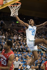 Kris Wilkes fell just two points short of his career high Thursday night. The freshman guard put up 19 points on 7-of-11 field goal shooting, including 3-of-5 from beyond the arc.(Mackenzie Possee/Daily Bruin senior staff)