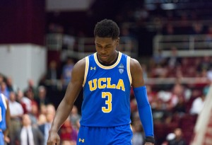 Aaron Holiday led the Bruins in points, but he couldn't lead the Bruins to a victory. The junior point guard notched 22 points in UCLA men's basketball loss to Oregon State on Thursday night.(Michael Zshornack/Photo editor)