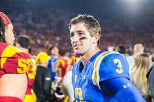 Josh Rosen played in 30 games over his three-year career as a Bruin. The junior quarterback did not play in UCLA's bowl game Dec. 26. (Aubrey Yeo/Daily Bruin senior staff)