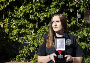 Brittany Speer, a UCLA emergency medical technician and UCLA alumna, received the Medal of Honor for treating victims during an October shooting at the Route 91 Harvest festival in Las Vegas. (Kristie-Valerie Hoang/Assistant Photo editor)