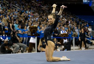 Sophomore Madison Kocian opened up the balance beam rotation tied for the lowest score on the team. Though the rest of the team was able to pick up the slack, Kocian said she believes they have room for improvement.  (Aubrey Yeo/Daily Bruin senior staff)