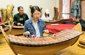 UCLA's Music of Thailand Ensemble was founded in 1964, but went on hiatus since 1985. The ensemble opened again in 2016, and is open to all students and faculty. (Chengcheng Zhang/Daily Bruin)