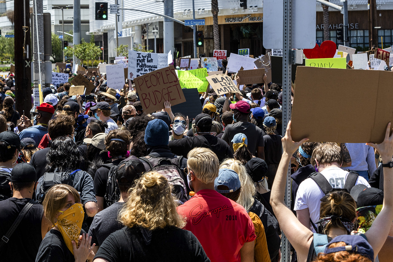 Protests erupt in Los Angeles in ...