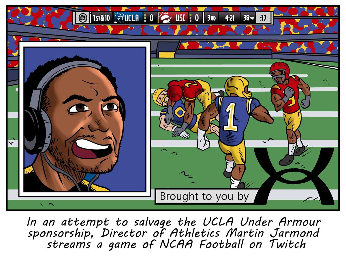 Halloween At Ucla 2020 Editorial Cartoon: UCLA Football's 2020 season   Daily Bruin