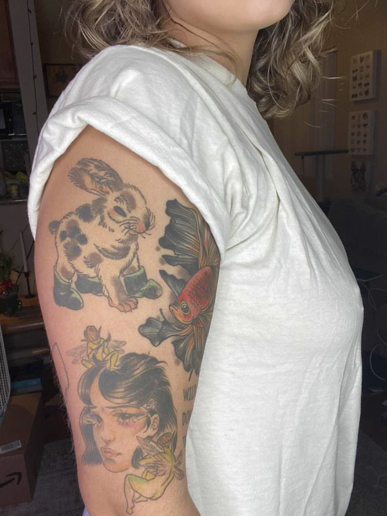 Fourth-year psychobiology student McKenna Lah said she views her tattoos as a collection of art.(Courtesy of Mckenna Lah)
