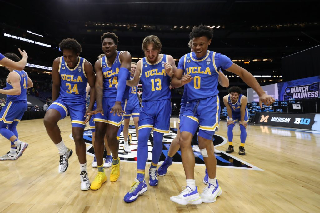 No. 11 seed UCLA men's basketball will have the opportunity to keep dancing and advance to its first national title game since XX when it takes on overall No. 1 seed Gonzaga on Saturday. (Courtesy of Trevor Brown Jr./NCAA Photos via Getty Images)