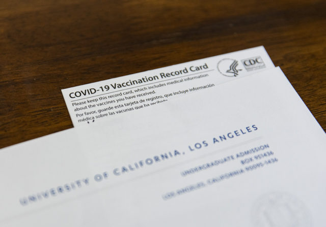 The University of California Office of the President announced COVID-19 vaccinations will be required for students returning to all campuses in the fall. (Ashley Kenney/Photo editor)