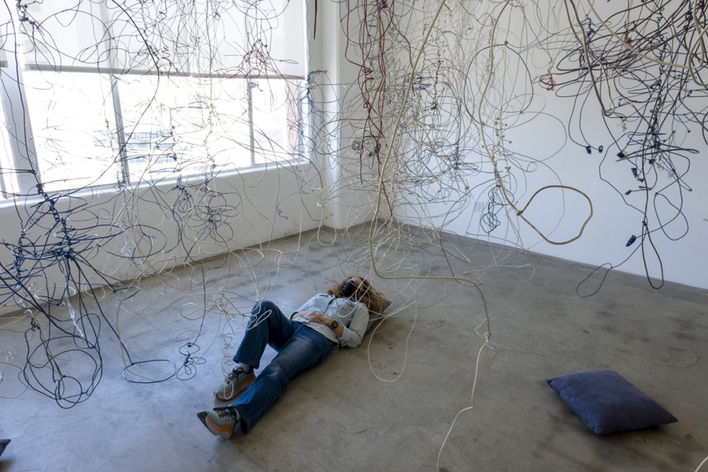 """When viewing """"Wald-en,"""" Niederlander said she hopes visitors will be prompted to explore their own personal identity. (Antonio Martinez/Daily Bruin)"""