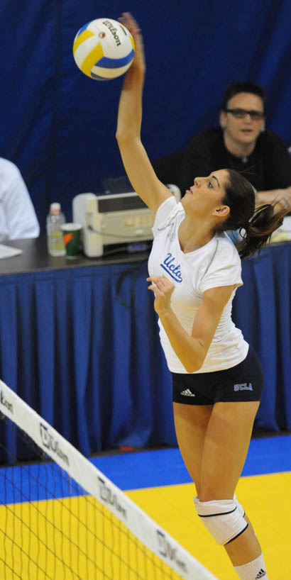 Junior outside hitter Dicey McGraw led the Bruins this weekend with a career-high 20 kills against Arizona on Saturday.