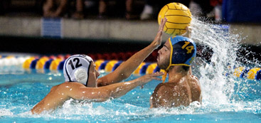 Junior defender Emilio Vieira defends during UCLA's match against UC Irvine. UCLA's defense will be key in slowing down Stanford's talented Wigo twins.