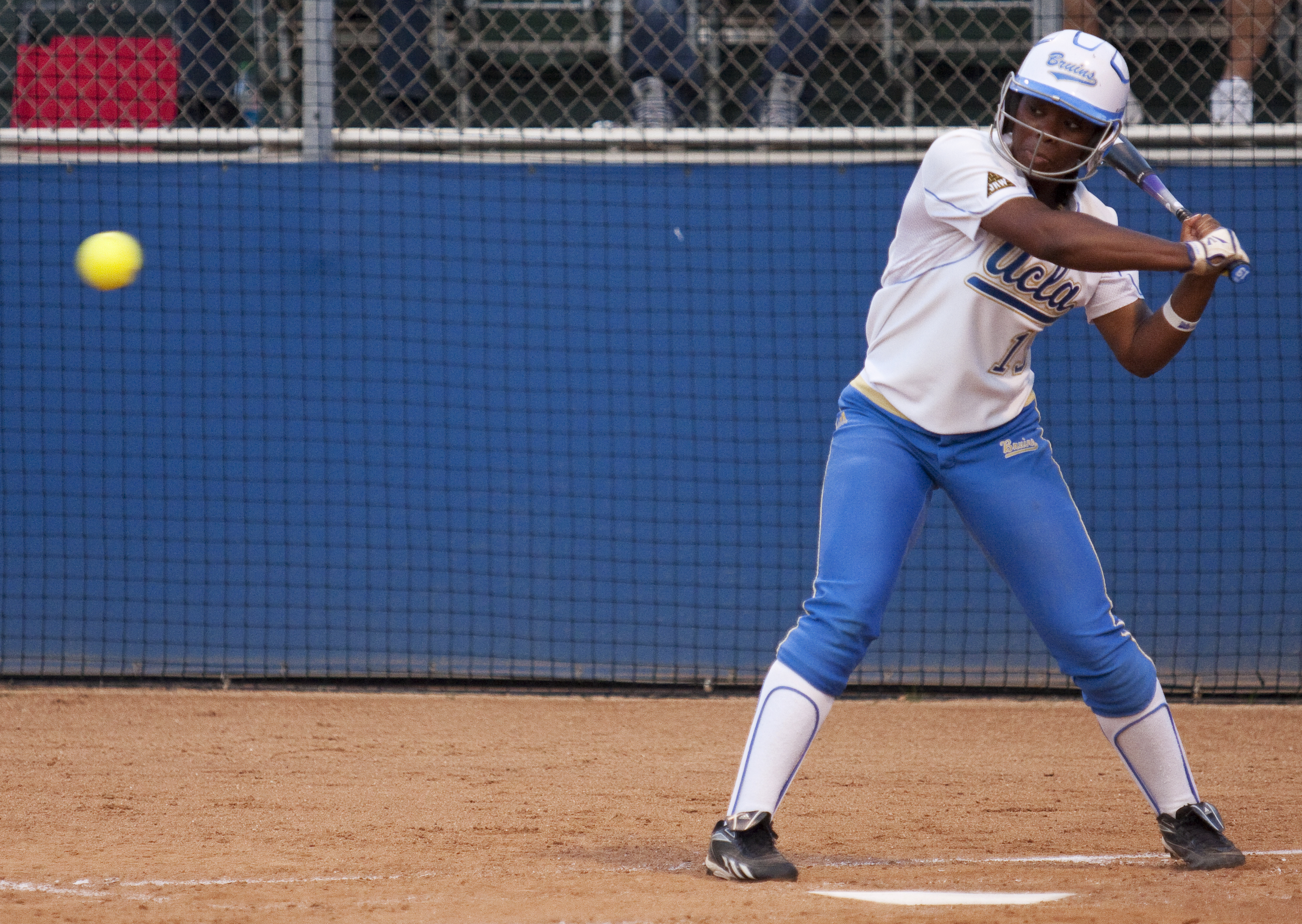 Junior outfielder B.B. Bates hits a two-out, two-run homer in UCLA's 8-2 loss to Oregon. Bates and UCLA are set to host an NCAA Regional this weekend.