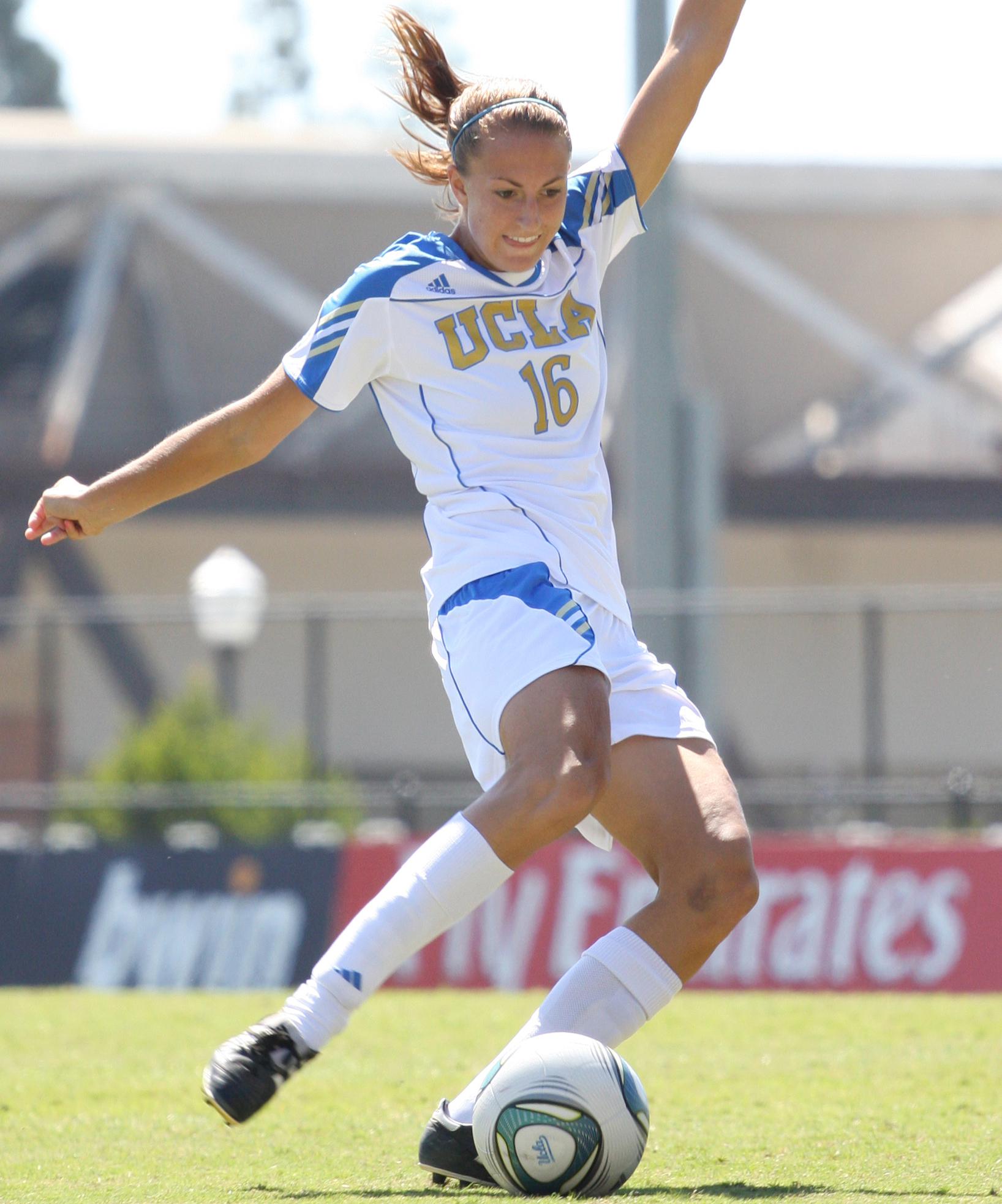 Sarah Killion managed to score her first goal as a Bruin when UCLA played the Oregon schools last weekend.