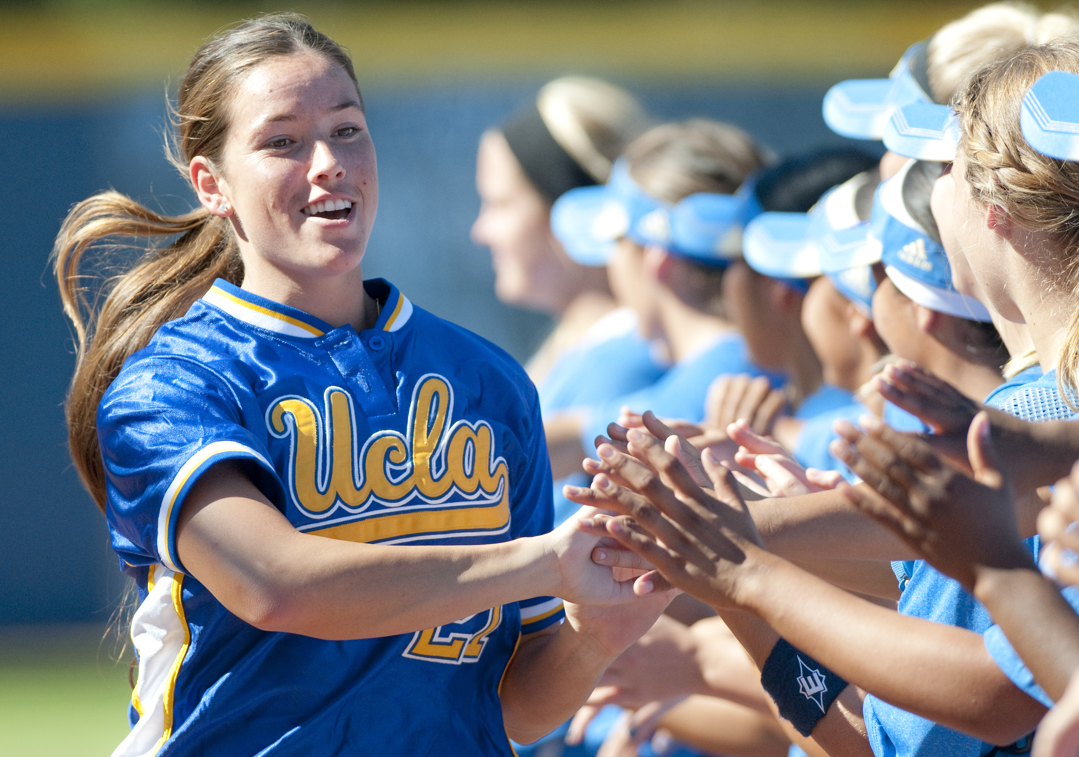 Shana Stewart played in the Alumni Game at Easton Stadium last weekend, where former and current Bruins participated in events including a home run derby and a clinic for aspiring Bruins. Stewart, who played for the Bruins until 2007, was joined by several other UCLA softball alumni.