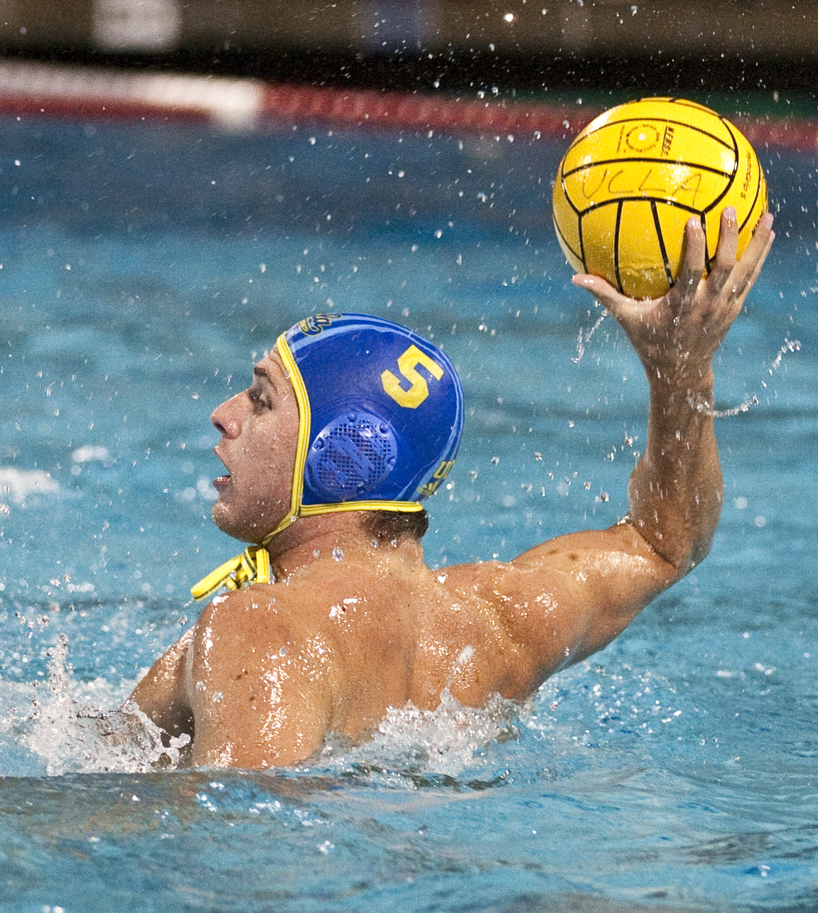 Senior attacker Griffin White and the second-ranked UCLA men's water polo team will head to USC's McDonald's Swim Stadium Friday to open up the MPSF Tournament. The Bruins won the conference title last year.