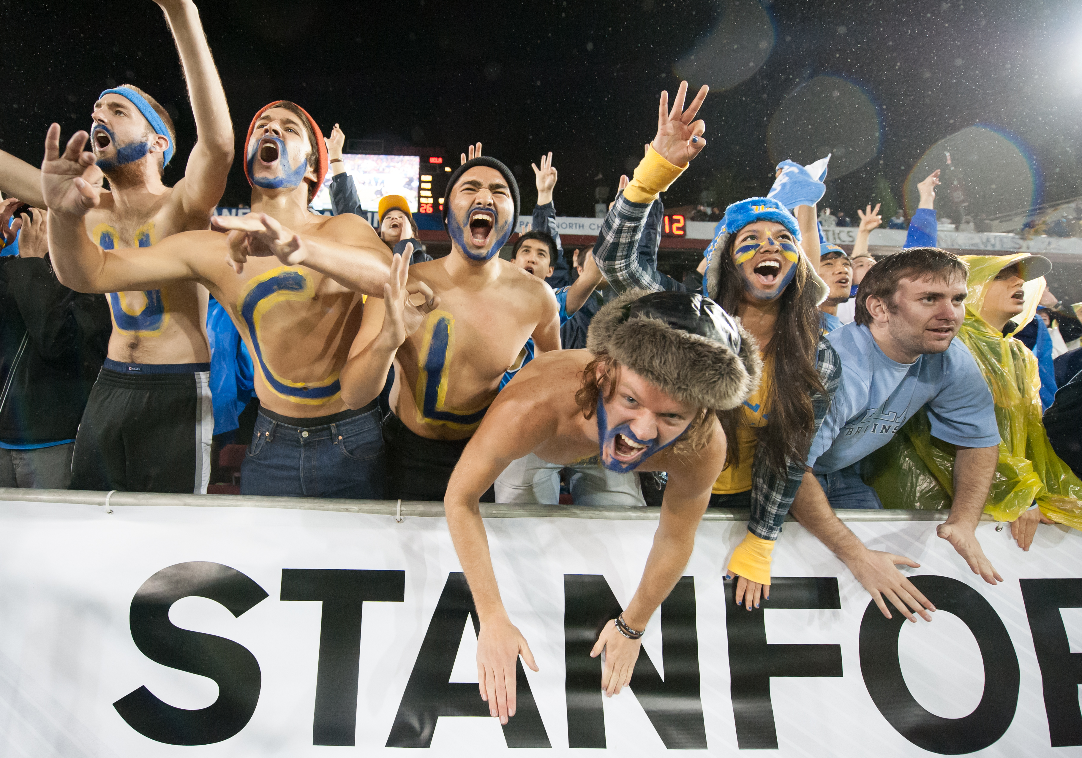 UCLA fans cheer on their team during the third quarter.