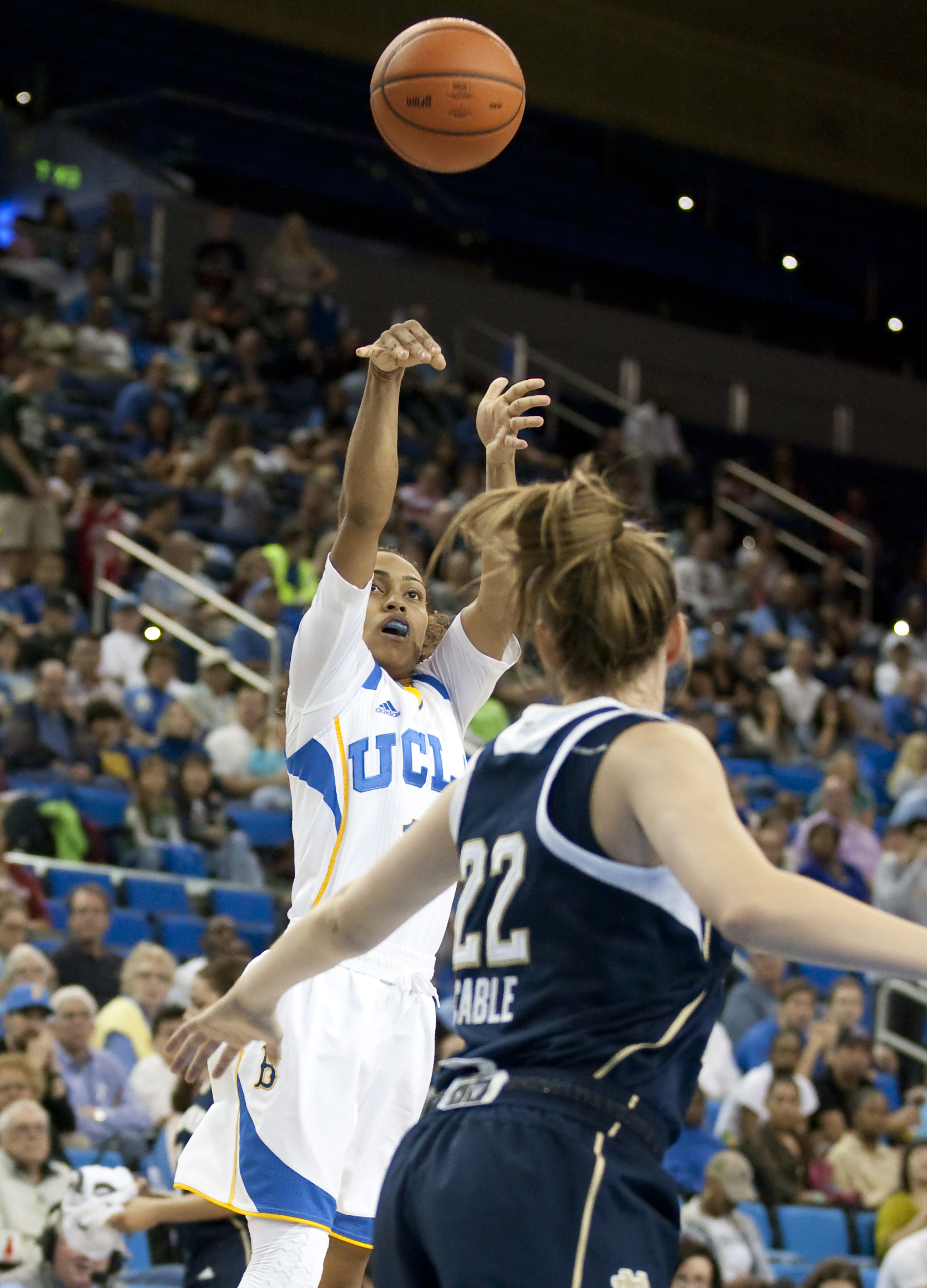 Senior guard Mariah Williams and the UCLA women's basketball team took a twenty-point win this weekend at Reliant Stadium in Houston against Texas. The team has beaten two ranked opponents, No. 12 Texas and then-No. 11 Oklahoma, on the road.