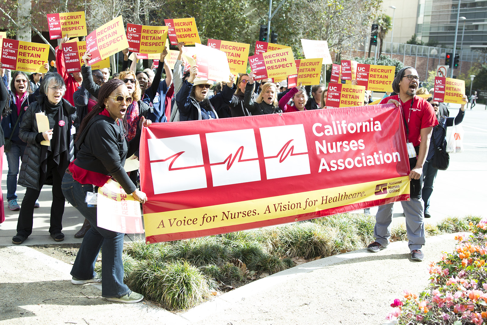 Nurses protest for new contract, better working conditions